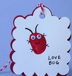 Cute thumbprint love bug #Valentine you can make with your kids!  #tutorial