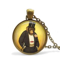 Hey, I found this really awesome Etsy listing at https://www.etsy.com/uk/listing/199430018/monkey-necklace-steampunk-circus-monkey