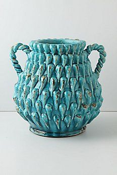 Turquoise Turrets Pot