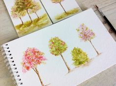 How to create watercolor trees using the Wplus9 Coming Up Roses stamp set. You can find any featured Wplus9 stamps, dies, and card stock at www.wplus9.com. F...