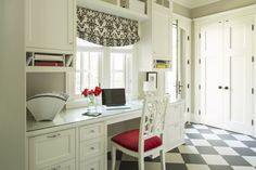 Bywood Street | Martha O'Hara Interiors Doors for pantry area -- and windows down to the desk area.  Love this!
