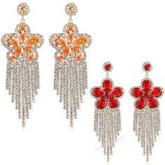 Dazzling Swarovski Crystal Dangle Chandelier Earrings Womens Party Gift E664E665 #Bearfamilybirth #Chandelier