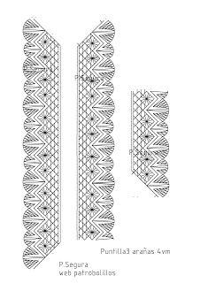 Patrobolillos : PICADOS PUNTILLAS Bobbin Lace Patterns, Crochet Borders, Brownies, Blog, Old Women, Crochet Towel, Hand Fans, Trapper Keeper, Bobbin Lace