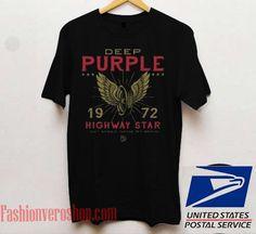 Deep Purple 1972 Highway Star Unisex adult T shirt