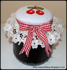 stitched and decorated by me ( rusyena). This is cute idea for homemade jelly and jam