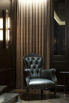 love the dark feel. like the dark chair for the cigar lounge