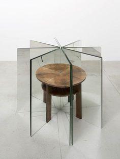 Alicja Kwade, Ein Tisch ist ein Tisch (A table is a table) Wood, mirror, 100 × 127 × 127 cm Glass Table, A Table, Mirror Illusion, Instalation Art, Mirror House, Mirror Art, Wood Mirror, Art Design, Interior Design
