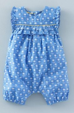 Free shipping and returns on Mini Boden 'Pretty' Print Romper (Baby Girls & Toddler Girls) at Nordstrom.com. Frilly ruffles trimming the yoke provide a pretty finishing touch for a crisp cotton romper in a cheerful print.