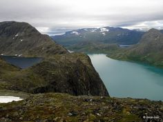 One lake above the other. - Besseggen Hike, Norway