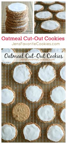 Oatmeal Cut-Out Cookies from JensFavoriteCookies.com - make this cookie and win prizes!  #cookieofthemonth