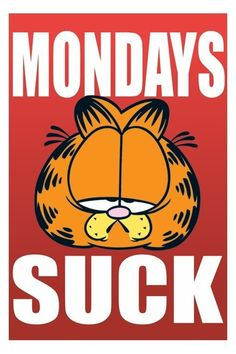 Mondays Suck funny garfield days of the week mondays humor