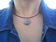 Love this Sun and Moon Pewter Charm Chocker <3
