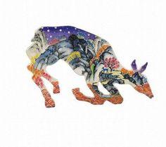 사슴 한국화 패턴 - Google 검색