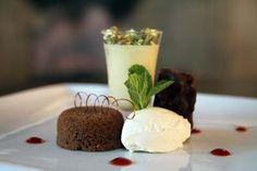 Dessert food @ The White swan Hotel, Alnwick, Northumberland. Chocolate and Ice cream