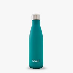 S'well water bottle - Stone Collection in Ivy - 17oz Keeps your drinks cold for 24 hours, hot for 12, 18/8 doubled-walled stainless steel, non-toxic, non-leaching and BPA free; vacuum sealed, keeps liquids and carbonation fresh; a portion of the proceeds from this bottle sold will go towards WaterAid