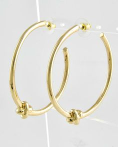 Gold Tone / Lead Compliant / Metal / Hoops / Post Earring Set