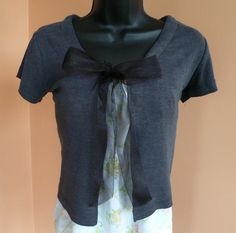 cardigan repurposed from a t-shirt - cute idea... must remove too big shirts from give away pile.. again.