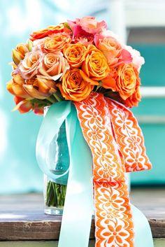orange & turquoise