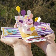 Birthday Money Gifts, Happy Birthday Cards Handmade, Gift Box Birthday, Funny Birthday Cards, Diy Gift Box, Diy Gifts, Magic Box, Birthday Explosion Box, Exploding Gift Box