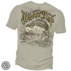 Mens Greyed Bass Fishing Tee Shirt