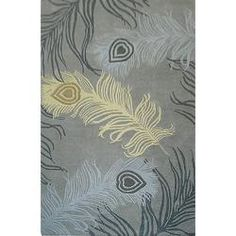 @Overstock - This area rug features exquisite colors that are perfect for the trend-savvy shopper. This stunning high end rug is meticulously hand-carved to create boldness and texture. The plush wool pile offers great comfort under foot.http://www.overstock.com/Home-Garden/Handmade-Alexa-Hand-spun-Peacock-Wool-Rug-5-x-8/6172442/product.html?CID=214117 $243.99