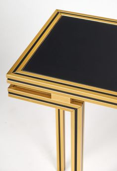 Vintage Pierre Vandel Brass Console Table - Jean Marc Fray