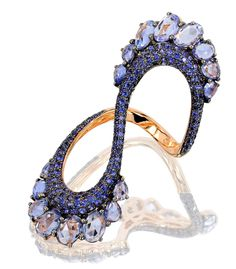 Highlighted by blue #sapphires on either side to add a boost of colorful beauty this Saturday night. #
