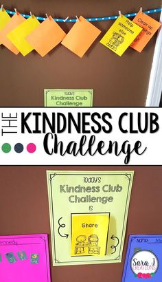 The Kindness Club Challenge is an easy way to focus on ways to be kind. This can… The Kindness Club Challenge is an easy way to focus on ways to be kind. This can be used at home or in the classroom to teach kindness and positive behavior to young kids. Teaching Kindness, Kindness Activities, Kindness Notes, Social Activities, Social Emotional Learning, Social Skills, Social Issues, Coping Skills, Kindness Projects