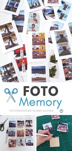 Foto-Memory selbst gestalten: Bastelanleitung für ein DIY Fotogeschenk
