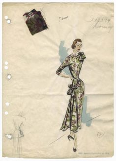 Bergdorf Goodman sketches : Dormoy 1930-1940. The Metropolitan Museum of Art, New York. The Costume Institute.