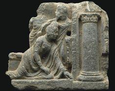 A gray schist relief of the Fallen Buddha -  GANDHARA, 2ND/3RD CENTURY | Christie's