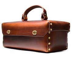 Handmade Leather & Solid Brass Tool Box - Kaufmann Mercantile