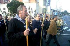 Alberto Fabra y la alcaldesa Sonia Castedo durante la romería de la Santa Faz en Alicante.