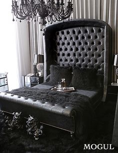 Had to post this one for the WOW factor.  Not my colors but it definitely has the glam..and my curtained wall!