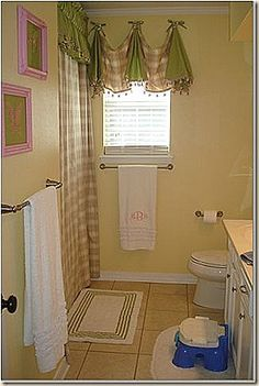 1000 images about bathroom window curtains on pinterest - Swag valances for bathroom windows ...