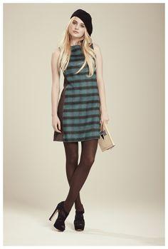 Francis Fall 2012 - Robin mixed pattern dress