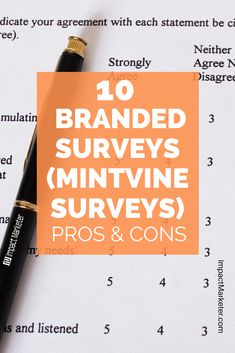Looking to learn more about Branded Surveys (Mintvine Surveys)? These are the 10 Pros and Cons of this survey site. Click through to check it out! #brandedsurveys #brandedsurveysreview #surveysite