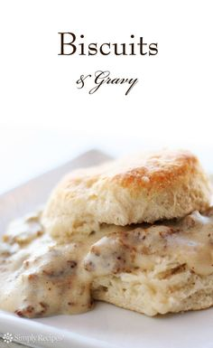 Biscuits and Gravy! Make this classic Southern recipe with homemade buttermilk biscuits and a rich, creamy sausage gravy. This is comfort food at its very best. Biscuit N Gravy Recipe, Biscuits And Gravy, Savory Breakfast, Breakfast Time, Breakfast Dishes, Brunch Recipes, Breakfast Recipes, Brunch Dishes, Breakfast Ideas