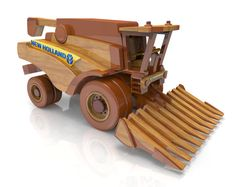 Combine Harvester by Lloydswoodtoyplans on Etsy
