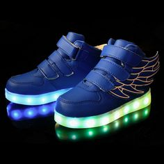 >> Click to Buy << 2017 New USB Charging Basket Led Children Shoes With Light Up Kids Casual Boys&Girls Luminous Sneakers Glowing Shoe enfant #Affiliate
