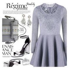 Flare Dress by vanjazivadinovic on Polyvore featuring Kobelli, Anja, Kershaw, dresslily and polyvoreeditorial