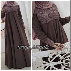 This Pin was discovered by zen Niqab Fashion, Muslim Fashion, Modest Fashion, Fashion Outfits, Muslim Dress, Hijab Dress, Hijab Outfit, Modest Dresses, Simple Dresses
