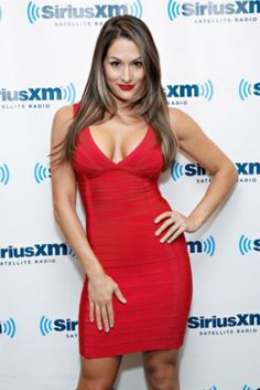 Bebe sexy bandage body con dress red Bandage dress very sexy size medium worn once perfect for Christmas party or any occasion bodycon bebe Dresses Nikki Bella Photos, Nikki And Brie Bella, Black Dress Red Carpet, Red Black Dress, Daniel Bryan, Red Bandage Dress, Bodycon Dress, Bella Sisters, Nicole Garcia
