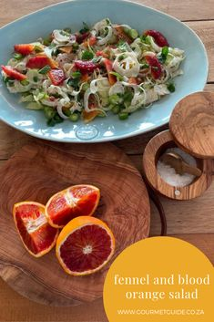 Fresh and flavourful fennel and blood orange salad. #jhpgourmetguide #heritageday #southafrica #seasonalingredients #saladrecipes #fresh #flavourful Orange Salad, Blood Orange, Fennel, Salad Recipes, Fresh, Vegetables, Hot, Ethnic Recipes, Gourmet
