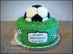 Cricket Birthday Cake, Cricket Theme Cake, Soccer Birthday Cakes, Soccer Ball Cake, Soccer Cakes, Grass Cake, Buttercream Cake, Chocolate Buttercream, Dad Cake