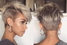 Autumn Hartt Short Hairstyles – Picture Gallery Source by Short Hairstyles For Thick Hair, Short Pixie Haircuts, Short Hair With Bangs, Short Hair Cuts, Short Hair Styles, Black Hairstyles, Short Asymmetrical Hairstyles, Asymmetrical Pixie Cuts, Fashion Hairstyles