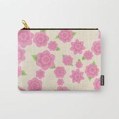 Flor maquillaje bolso-pequeño-mediano-grande por ShelleysCrochetOle