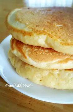 Mochiri Tofu Pancake by Masasippo [Cook Pad] Cook Pad, Mochi Recipe, Food Preparation, Baby Food Recipes, Tofu, Pancakes, Sweets, Cooking, Breakfast