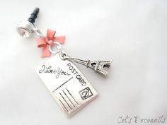 Letters from Paris iPhone dust plug charm