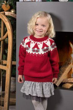 LG18-57 Nisseungens julegenser | Linde Garn Drops Baby Alpaca Silk, Drops Kid Silk, Baby Cardigan Knitting Pattern Free, Fair Isle Knitting Patterns, Maid Marian, Knitting For Kids, Free Knitting, Footprints In The Sand, Christmas Knitting